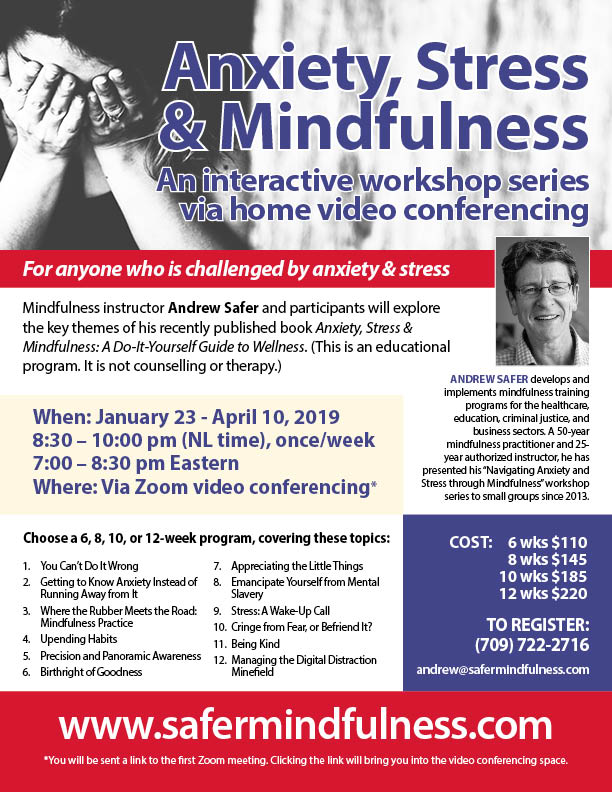 Anxiety, Stress and Mindfulness Interactive  Workshop